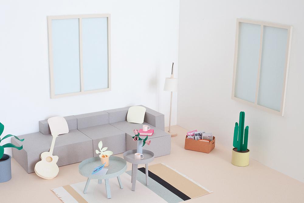diy de la maison scandinave en papier heju peeksee. Black Bedroom Furniture Sets. Home Design Ideas