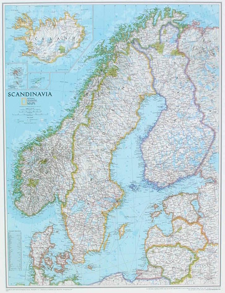 Carte Scandinavie